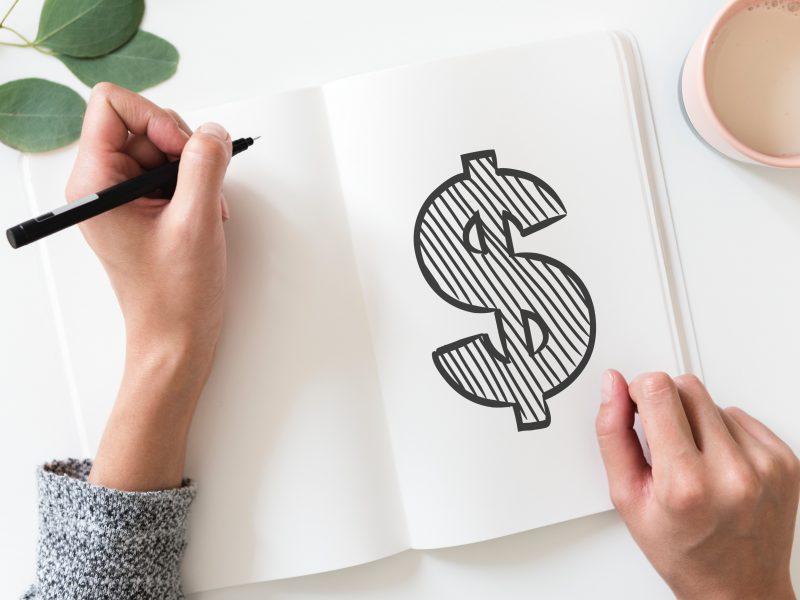 ways to save money writing dollar symbol